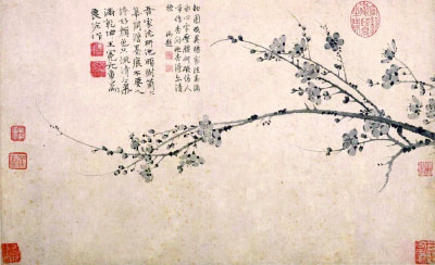 墨梅图(国画) 元 王冕