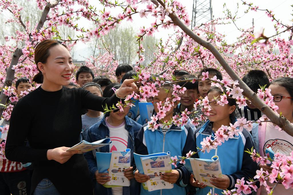 枣庄:亲近自然 感受春天