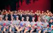 金正恩和夫人李雪主观看中国艺术团演出芭蕾舞剧《红色娘子军》
