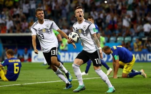 世界杯-罗伊斯破门克罗斯绝杀 十人德国2-1瑞典