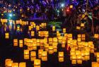 洛杉矶举行水灯节