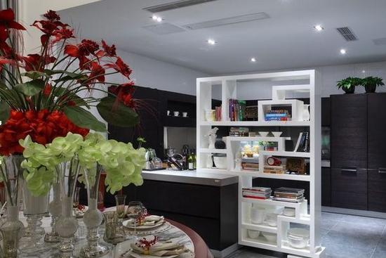 餐厅与厨房隔断装修效果图-餐厅与厨房隔断装修效果欣赏高清图片