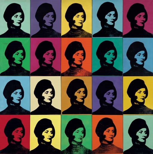 安迪沃霍尔,《米兰达戴维森》(1965) 图片:Private Collection  2015 the Andy Warhol Foundation for the Visual Arts, Inc./Artists Rights Society (ARS), New York. 3.拍卖保证金以及吊灯叫价(编注:吊灯叫价即chandelier bidding。这是拍卖师虚假叫价的一个把戏:拍卖师在竞价时假装看到拍卖厅内有人出价,实际上拍卖师手指的方向根本没有竞价,只是房间内的吊灯而已)。它们