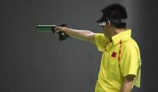 男子10米气手枪庞伟摘铜