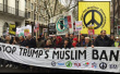 英国宗教团体举行万人大游行 抗议特朗普旅行禁令