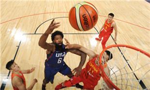热身赛:中国男篮57-106不敌美国梦之队