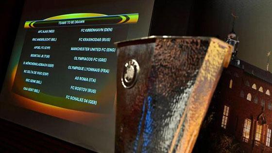 欧联1/8决赛抽签:曼联远征俄罗斯 罗马遇里昂