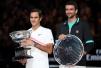 费德勒第六度澳网封王 斩获第20个大满贯头衔