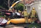 直升机坠毁砸中民房