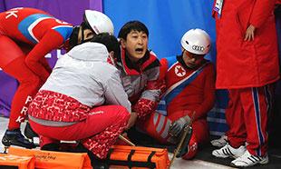 出师不利!朝鲜运动员备战中受伤