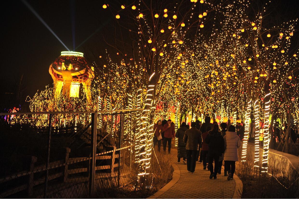 山东峡山:赏花灯 过大年