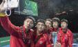 世界杯乒乓球中国制造