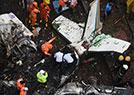 孟买一小型飞机坠毁