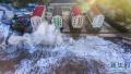 """实拍超强台风""""玛利亚""""登陆:浙江沿海巨浪拍岸,仿佛欲吞噬居民楼"""