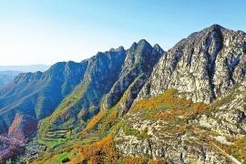 初冬时节,箕山山脉分外壮美