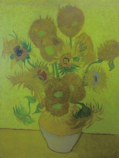 梵高《向日葵》1889年油画95cm×73cm