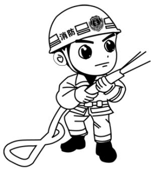 人物简笔画小小消防员简笔画 简笔画 故事中国