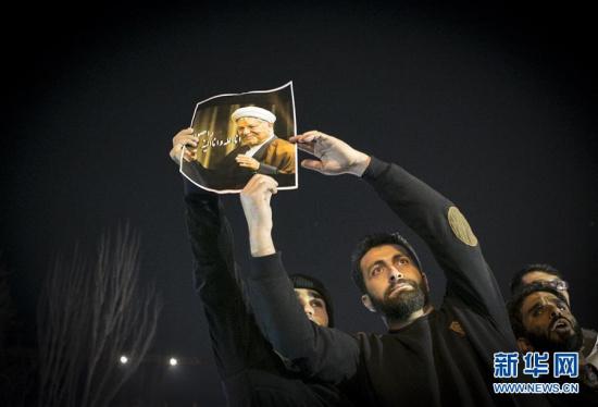 民众悼念伊朗前总统拉夫桑贾尼(组图)