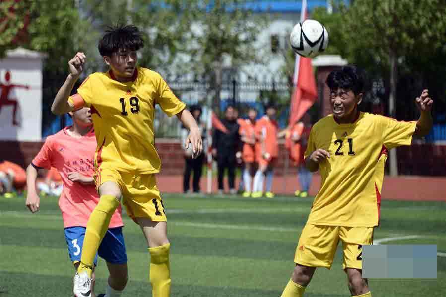 滨州:校园足球联赛助推足球进校园