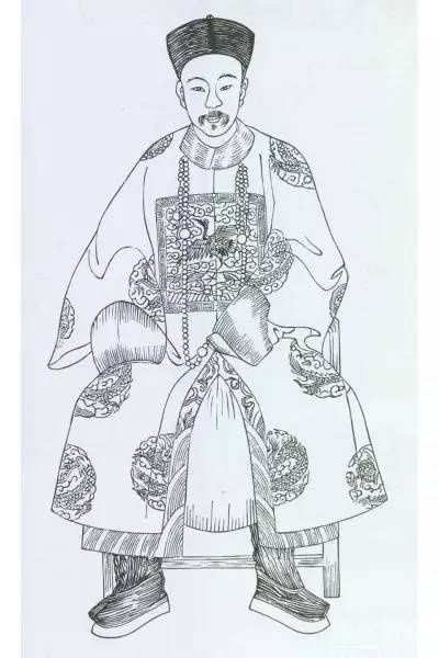 手绘漫画皇帝线稿