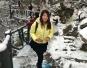 平顶山一景区下雪 积雪颇深游客高兴异常