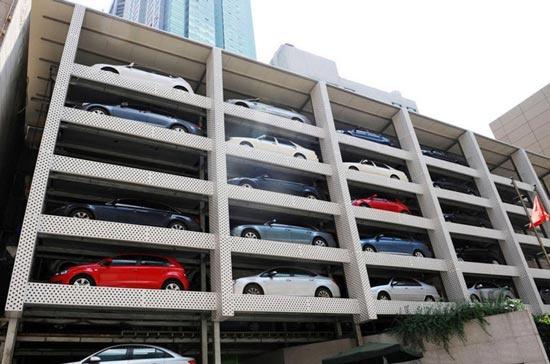 个免费设计五层立体停车场开建 取车仅需45秒