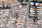 加州大火肆虐后景象