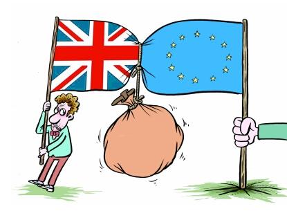"""英国""""脱欧""""事务大臣戴维斯3日表示,英国绝不会付给欧盟千亿""""分手费"""".图片"""