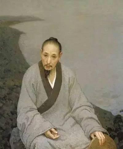 《八大山人》 靳尚谊 布面油画