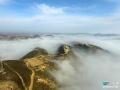 陕西吴起云雾缭绕似仙境