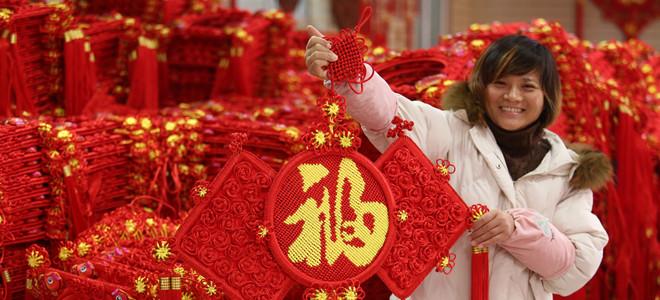 临沂郯城:加工节庆用品迎新年