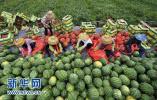 阜城第九届漫河西瓜节:瓜农30秒吃3公斤西瓜