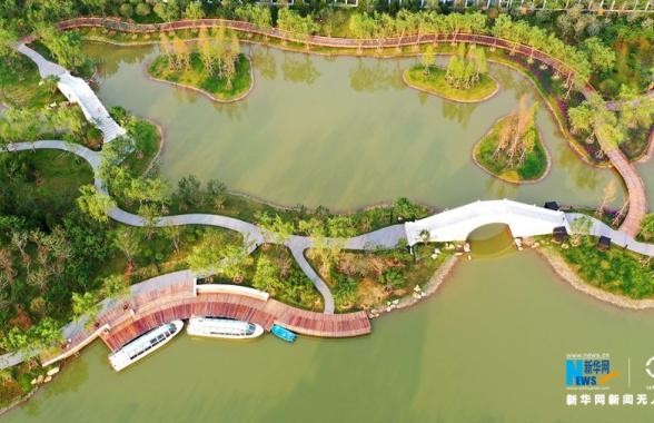 河南漯河:小南湖湿地公园美如画