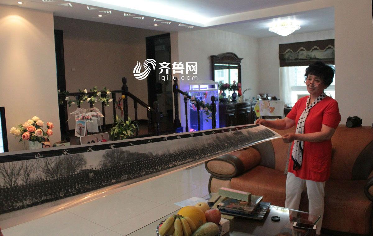 77年高考者:珍藏山大全体毕业生合影 长达2.09米