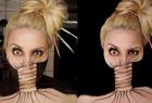 化妆师诡异妆容