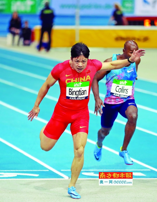 广东短跑名将苏炳添再刷60米亚洲纪录 6秒47