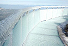 玻璃桥桥面被冰封