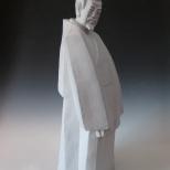 仲弓问仁 89cm×27cm×25cm 白珍珠釉装饰雕塑