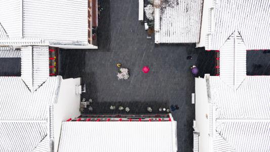 """用一场大雪迎来最冷的""""三九"""" 南京江北小伙伴可以堆雪人了"""