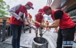 阜城1300多名志愿者集中开展志愿服务