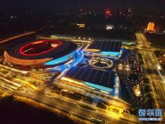 郑州奥体中心:璀璨夜景迎盛会