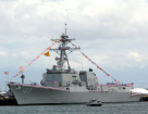 美舰驶近南海美济礁细节:逗留1.5小时
