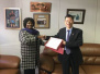 驻纳米比亚使馆临时代办李南会见纳内政部长