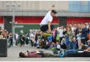 江苏南京:轮滑少年展技艺