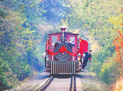 河南三门峡:小火车拉来乡村游